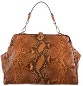 Brooks Brothers Snakeskin Frame Bag