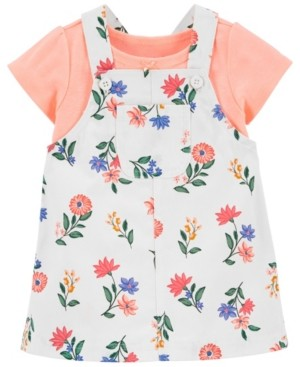 Carter's Baby Girls Tee and Floral Skirtall Set, 2 Pieces