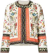 Alice + Olivia Alice+Olivia - tapestry print jacket - women - Linen/Flax - S