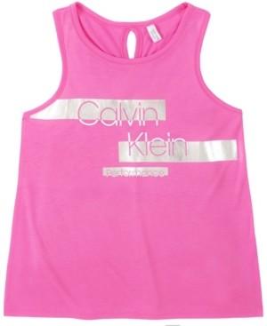 Calvin Klein Big Girls Cross Back Tank Top