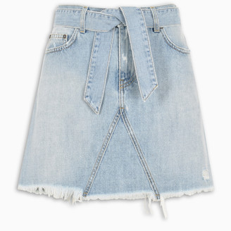 Givenchy Mini skirt in denim with belt