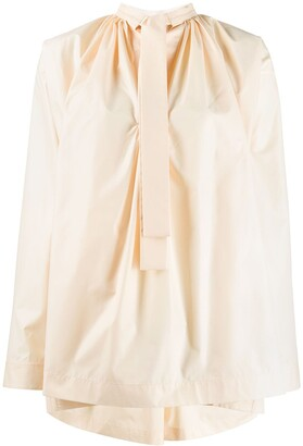 Jil Sander Pussy-Bow Flared Blouse