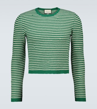 Gucci Long-sleeved striped sweater