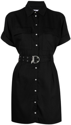 Patrizia Pepe Belted Buttoned Short-Sleeve Dress