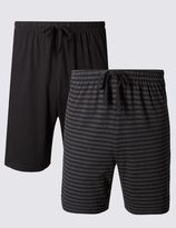 Marks and Spencer 2 Pack Cotton Rich Assorted Pyjama Shorts
