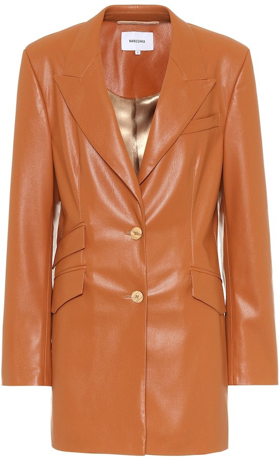 Nanushka Faux leather blazer