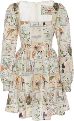 Agua Bendita Curuba Printed Linen Mini Dress