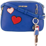 Love Moschino heart patches crossbody bag