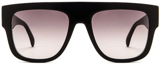 Alaia Flat Top Stud Sunglasses in Black & Silver | FWRD