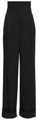 Dolce & Gabbana High-rise Cady Wide-leg Trousers - Black