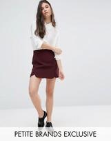 Alter Petite Scallop Hem Mini Aline Skirt