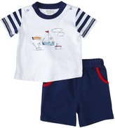 Absorba Little Sailor Shorts Set (Baby) - Navy-6-9 Months
