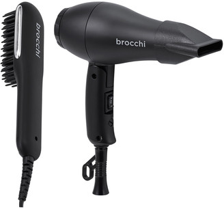 Sebastian Brocchi Brocchi 2Pc Mini Hair Dryer And Hot Air Brush Bundle