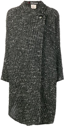 Fendi Pre Owned Boucle Wrap Coat