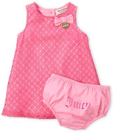 juicy couture (Infant Girls) Two-Piece Crochet Dress & Bloomers Set