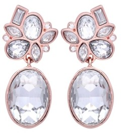T Tahari Candied Floral Drop Clip Earring