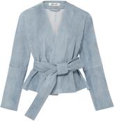 Diane von Furstenberg Short Belted Suede Jacket