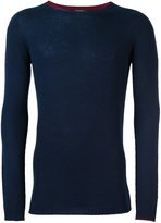 Roberto Collina cashmere contrast collar sweater