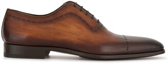 Magnanni stitch-detail Oxford shoes