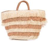 Kayu layered fringed beach tote - women - Straw - One Size