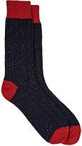 Barneys New York Men's Rib-Knit Cashmere-Blend Socks-NAVY, RED