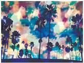 Urban Road Palms Canvas Print, Palms Navy 60x90cm