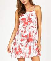 Insight Stork Print Dress Red