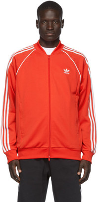 adidas Red SST Track Jacket Sweater