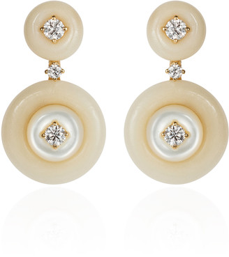 Fernando Jorge Signal Diamond, Tagua, Mother-of-Pearl 18K Yellow Gold