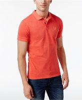 HUGO BOSS BOSS Orange Men's Textured Cotton Polo