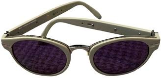 Alexander Wang Beige Plastic Sunglasses