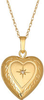 Lord & Taylor 14 Kt. Gold Diamond Heart Locket Necklace
