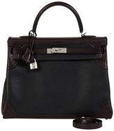 One Kings Lane Vintage Hermès Ghillies Black Kelly Bag