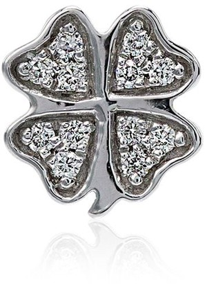 Loquet 18kt white gold Clover diamond charms