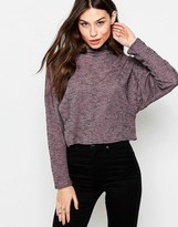 Love High Neck Top With Zip Detail