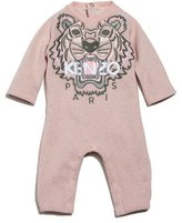 Kenzo Knit Cotton-Blend Coverall, Light Pink, Size 6-12 Months
