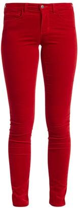 L'Agence Marguerite High-Rise Skinny Velvet Jeans