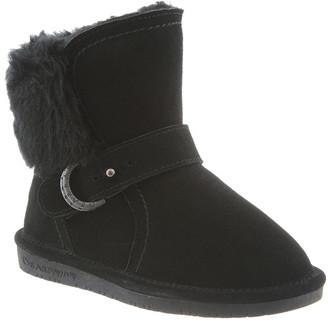 BearPaw Cold Weather Boots BLACK - Black Koko Suede Boot - Kids