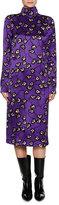 Marni Printed Mock-Neck Midi Dress