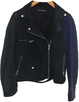 Religion Black Suede Leather jackets