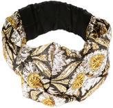 Gucci lurex turban - women - Metallic Fibre/Silk/Polyamide - One Size