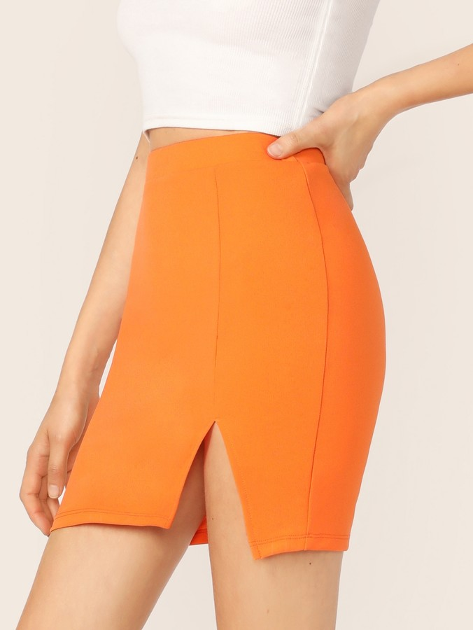 cc46fdce55fd Shein Orange Skirts - ShopStyle