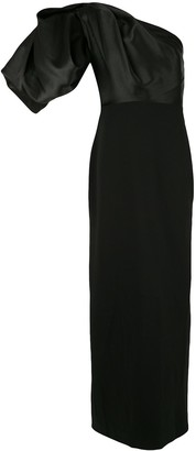 SOLACE London Acacia one-shoulder maxi dress