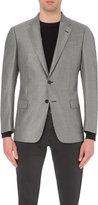 Armani Collezioni Bamboo-stitch Regular-fit Woven Jacket