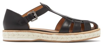 Church's Rosemary Leather Espadrille Sandals - Black
