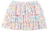 Petit Bateau Girls ruffled print skirt