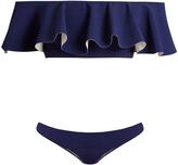 Lisa Marie Fernandez Mira Flounce bonded bikini