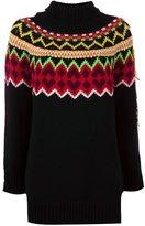 Twin-Set fair isle long knit jumper