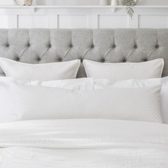 The White Company Bolster Cushion Cover, White, Bench