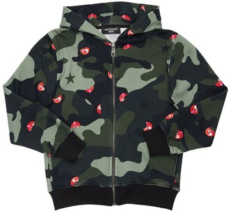 Neil Barrett Camouflage Cotton Zip Sweatshirt Hoodie